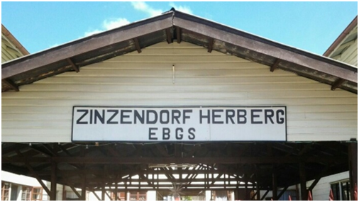 Graf Zinzendorf Herberge in Surinam